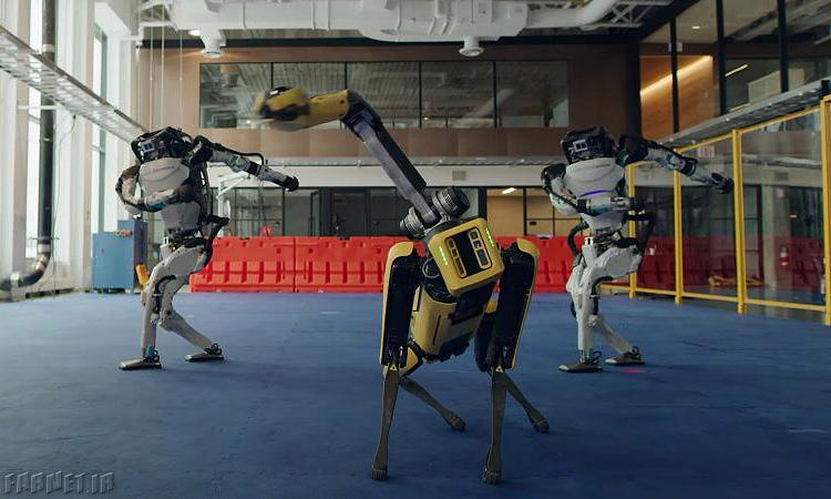 رقص رباتیک خانواده رباتهای بوستون داینامیکس