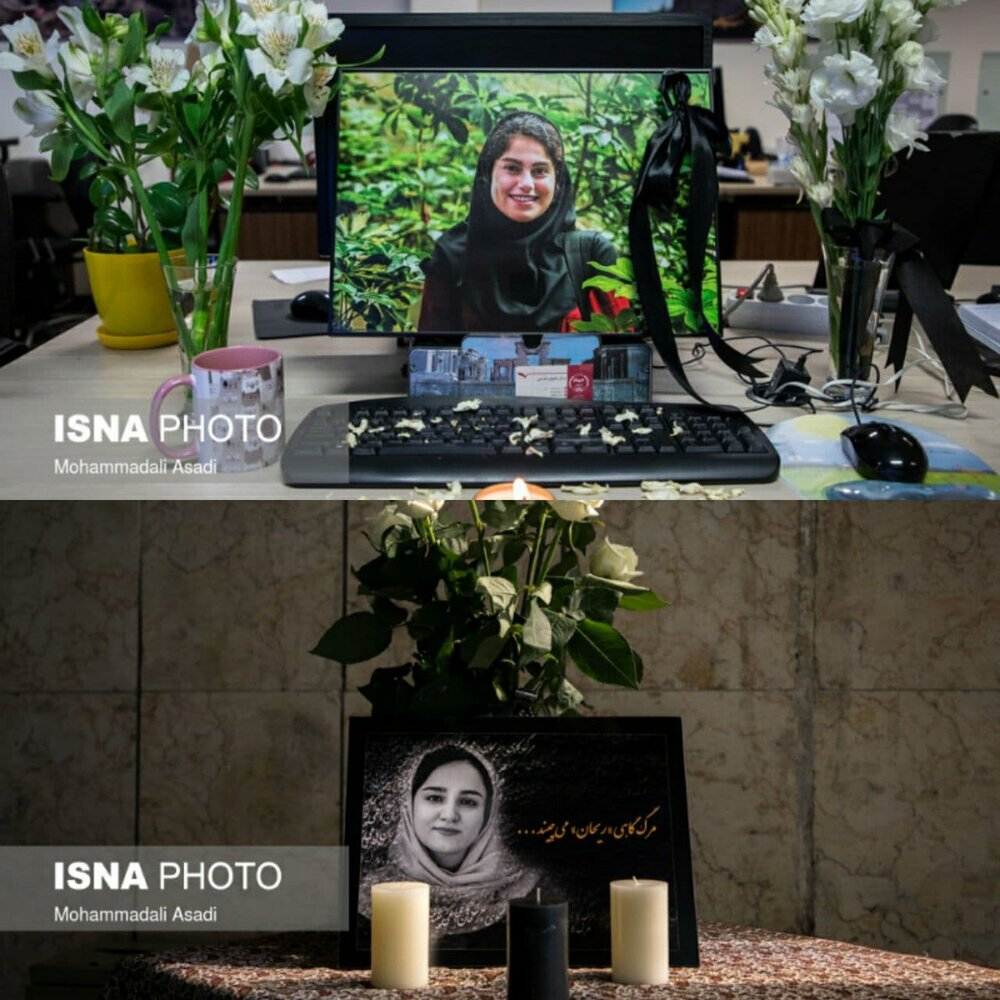 محلِ کارِ مهشاد کریمی و ریحانه یاسینی، در فقدان این دو خبرنگارِ جوان جانباخته/ عکس