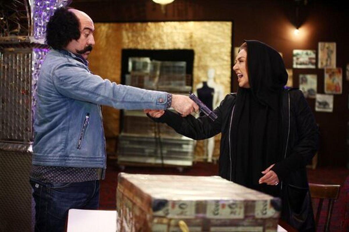 گریم متفاوت سحر قریشی و علی انصاریان در فیلمی تازه / عکس