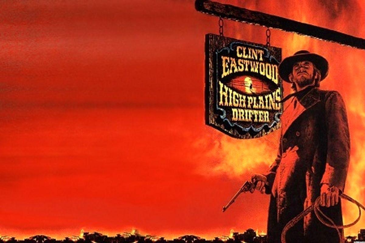 سکانسی از فیلم High Plains Drifter کلینیت ایستود